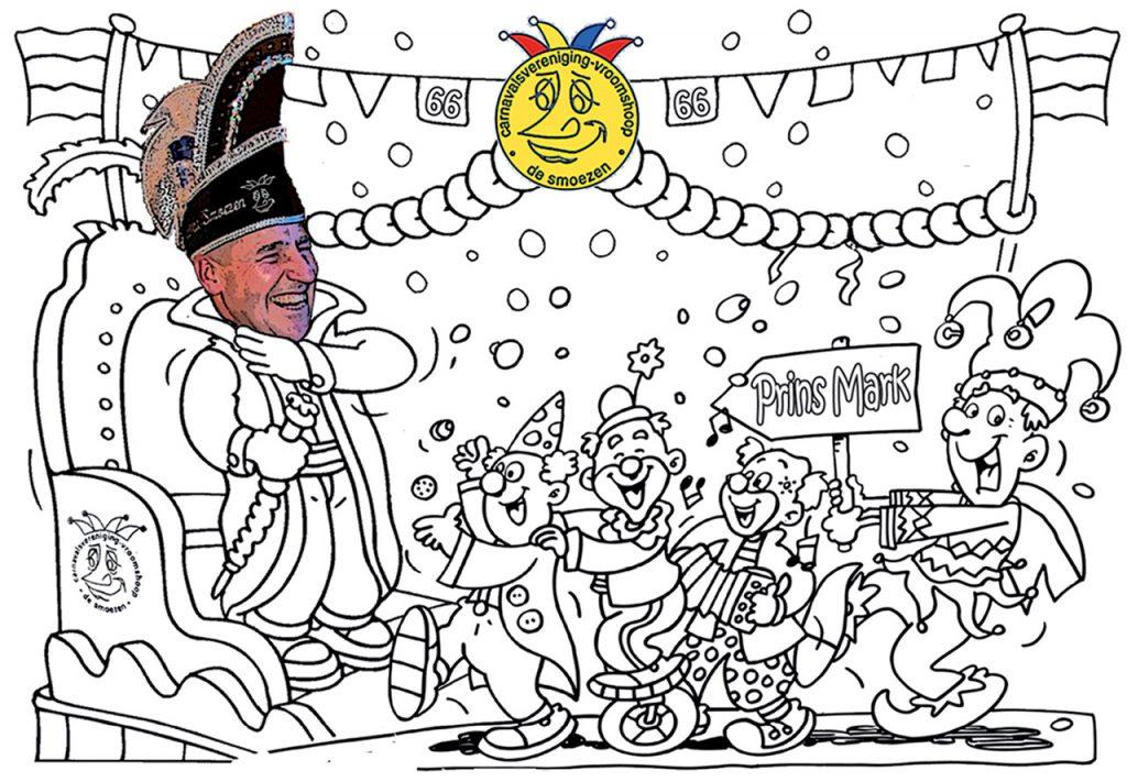 Kleurplaten Van Prins Carnaval.Kleurplaat C V De Smoezen